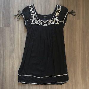 Black embroidered dress
